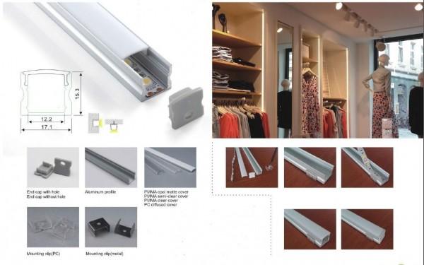 Synergy 21 LED U-Profil 200cm, ALU004-R weiss
