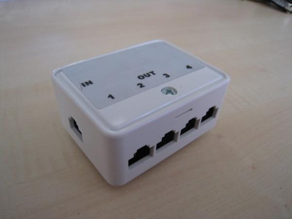 Kabel TK Telefon (Up0) - Adapter RJ45 (8P8C) > 4X RJ45 (8P4C