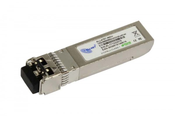 ALLNET Switch Modul ALL4757-INDU SFP+(Mini-GBIC), 10Gbit Multimode, SR/LC, Industrial -40/+85 Grad,