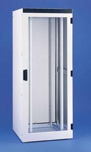 Knürr Schrank, IP55, 23HE, B600/T800mm, Lochraster, Lichtgrau