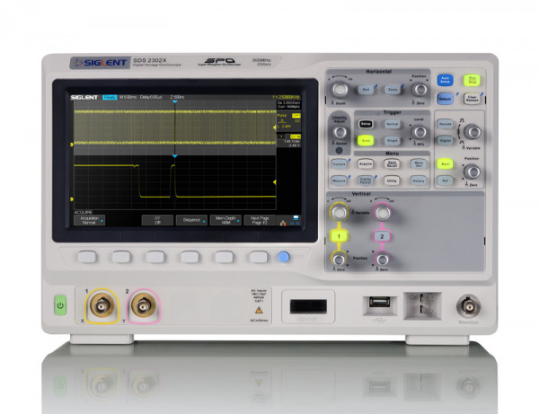 Siglent SDS2102X / 2-Kanal, 100MHz Oszilloskop, 2GSa/s