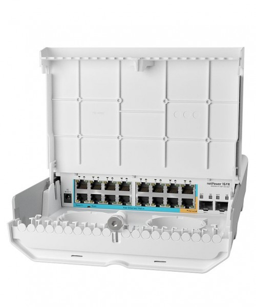 MikroTik Cloud Router Switch CRS318-1Fi-15Fr-2S-OUT, netPower, 16x 10/100 (15x PoE-in, 1 x PoE-out), 2x SFP