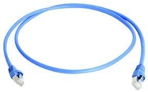 Telegärtner Patchkabel CAT6A, 0.25m, Blau, 500MHz, S-STP(S/