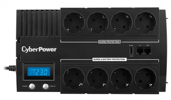 CyberPower USV, BRICs-Serie, Line-Interactive, 700VA/390W, LCD, USB, 3min,