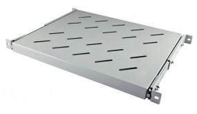 """ALLNET 19""""zbh. Fachboden ausziehbar, für 1100mm Schrank tiefe, Lichtgrau, t850-950mm,"""