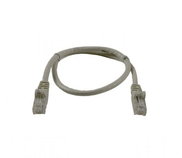 Patchkabel RJ45 UTP(U/UTP). 0.5m grau, CAT6, PVC, Synergy 21