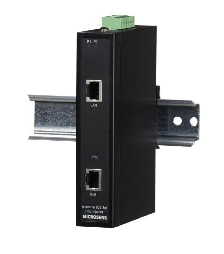 Microsens PoE+ Industrie Injector für Hutschiene, MS657031X