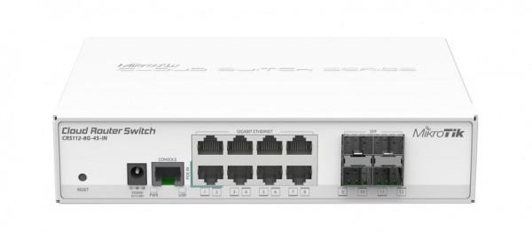 MikroTik Cloud Router Switch CRS112-8G-4S-IN, 8x Gigabit, 4x SFP