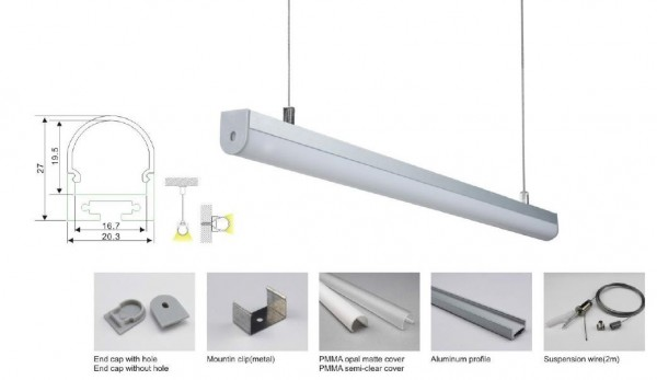 Synergy 21 LED U-Profil 200cm, ALU027