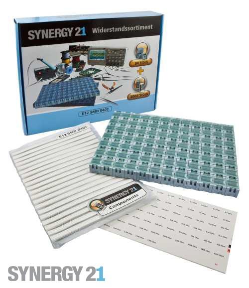 Synergy 21 Widerstandssortiment E12 Drahtwiderstände 5% SET