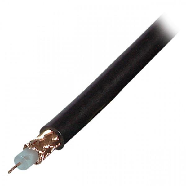 Kabel Koax RG59 Kabel, 100m, 75Ohm, Schwarz,