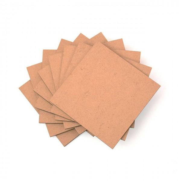 Snapmaker zbh. CNC Material Pack MDF Scheiben (10x MDF Wood) 80 x 80 x 3 mm
