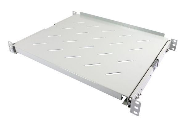 """ALLNET 19""""zbh. Fachboden ausziehbar, für 800mm Schrank tiefe, Lichtgrau, t550-650mm,"""