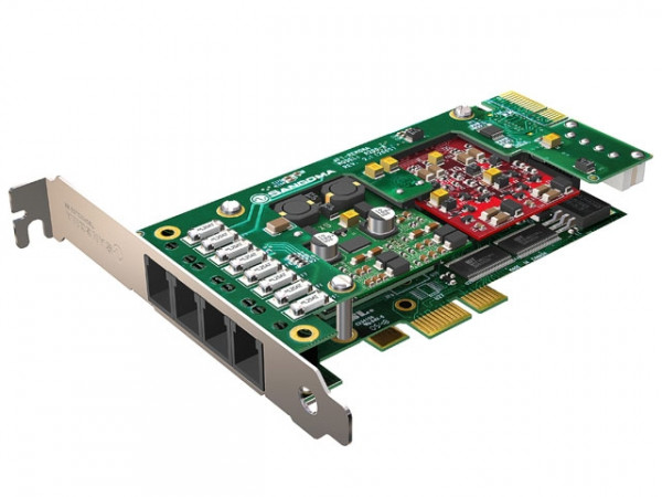 Sangoma A200 10FXS 2FXO PCIe analog Karte mit Echo Unterdrüc