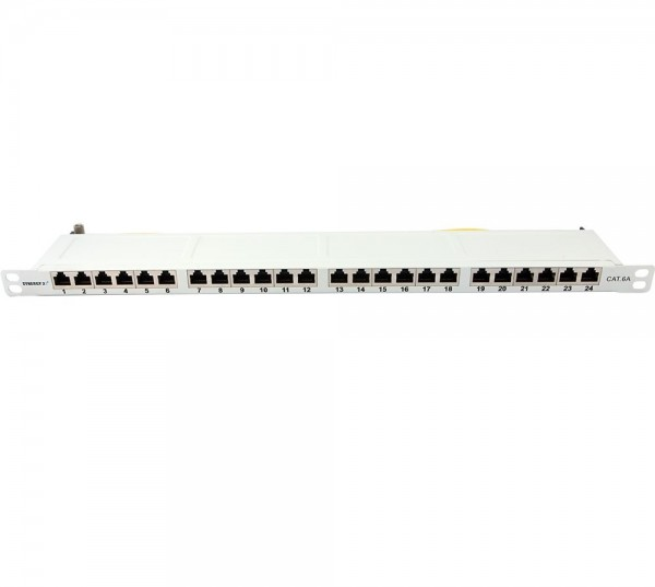 "Patch Panel 24xTP, CAT6A, 500Mhz, 19"", Lichtgrau, Synergy 21, 0, 5HE"