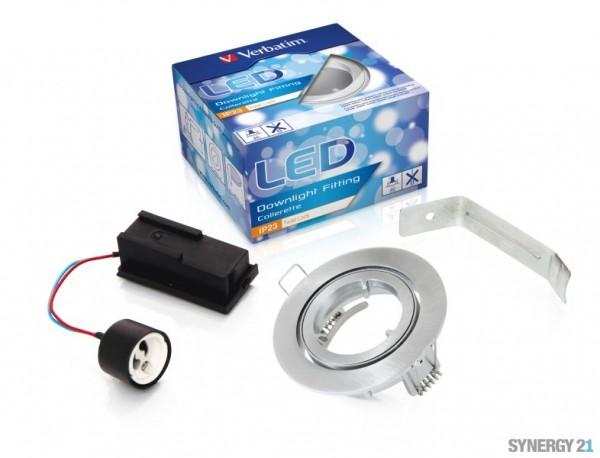 Synergy 21 LED Retrofit Deckeneinbausatz IP23 Alu Verbat