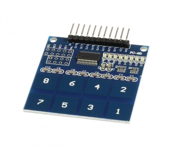 ALLNET 4duino 8 chanel Capacive Touch Button Switch Board