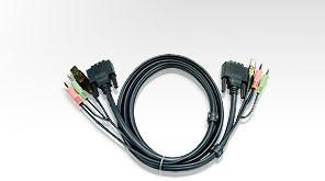 Aten Verbindungskabel DVI, 1,8m, USB, Audio