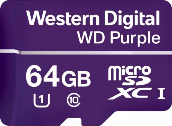 Flash SecureDigitalCard (microSD) 64GB - WD Purple