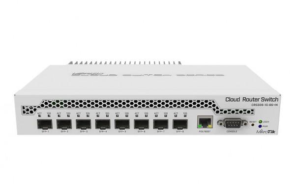 MikroTik Cloud Router Switch CRS309-1G-8S+IN, 8x SFP+, 1x Gigabit