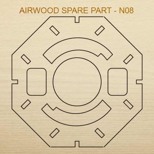 Airwood Holz Ersatzteil N08 / Spare Wood Part N08