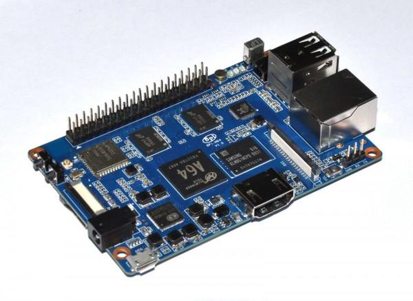 banana pi board BPi-M64 Quad-Core CPU / 2GB Ram / Wifi / Bluetooth mit DC-Stecker!