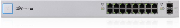 Ubiquiti UniFi Switch, 16 Gigabit RJ45 Ports, 2 SFP Ports, P