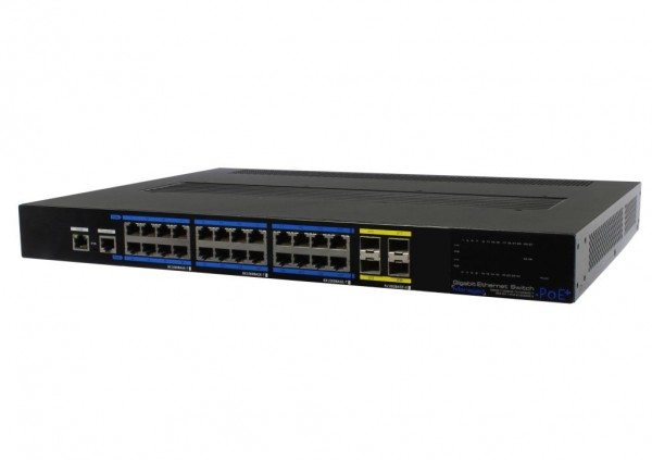 "ALLNET Switch smart managed 24 Port Gigabit 350W / 24x PoE+ / 4x SFP+ / Lüfterlos / 19"" / ""ALL-SG8428FPM-10G"""