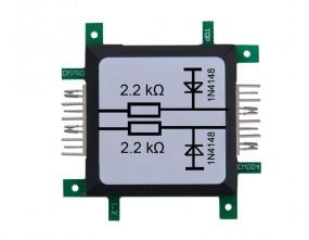 ALLNET Brick'R'knowledge Widerstand 2,2K doppelt Ohm mit Schutzdiode