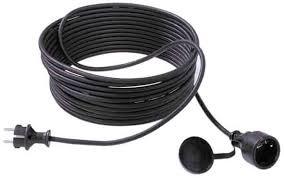 Bachmann Kabel, Verlängerung, Dose(CEE7)->Stecker(CEE7), 25m, Schwarz,