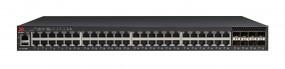Brocade ICX 7250 Switch 48-port 1 GbE switch PoE+ 740W bundle with 2x1GbE/10GbE + 6x1GbE SFP+ (upgradeable to 10GbE)