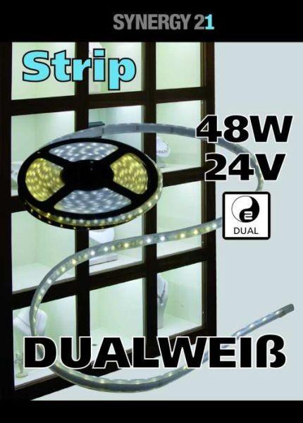 Synergy 21 LED Flex Strip dual white (CCT) DC24V 48W pro Farbe IP20