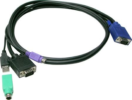 Allnet KVM, zbh. Kabel für Prima(T)4/8/16, 10m, USB/PS2,
