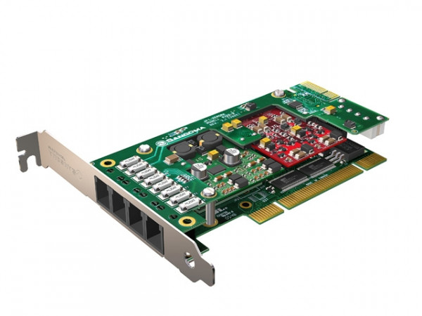 Sangoma A200 4FXS 20FXO PCI analog Karte