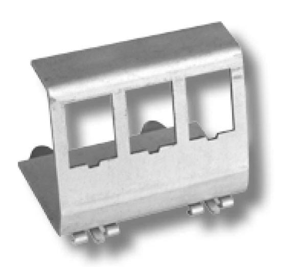 Keystone, Modulträger, DIN Rail, für 3xTP-Modul, Hutschienenadapter,