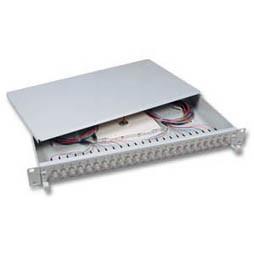 "LWL-Patchpanel Spleisbox,19"",48xST, 50/125um,2HE,ausziehbar"