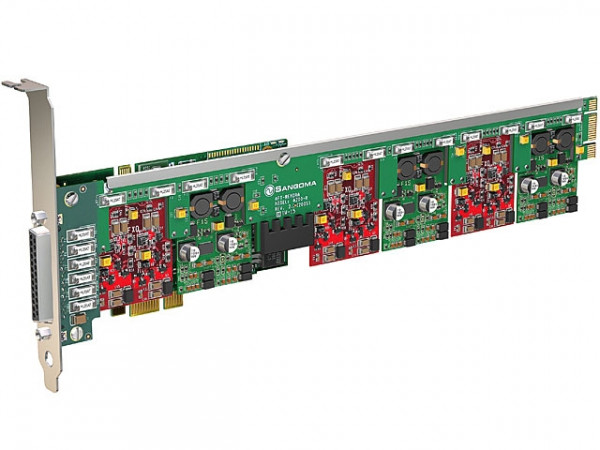 Sangoma A400 10xFXS analog Karte mit Echo Unterdrückung PCIe