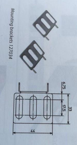 "ALLNET 19""zbh. Steckdosenleiste, zbh. Winkel 19"" 1Paar, Metall lang,"