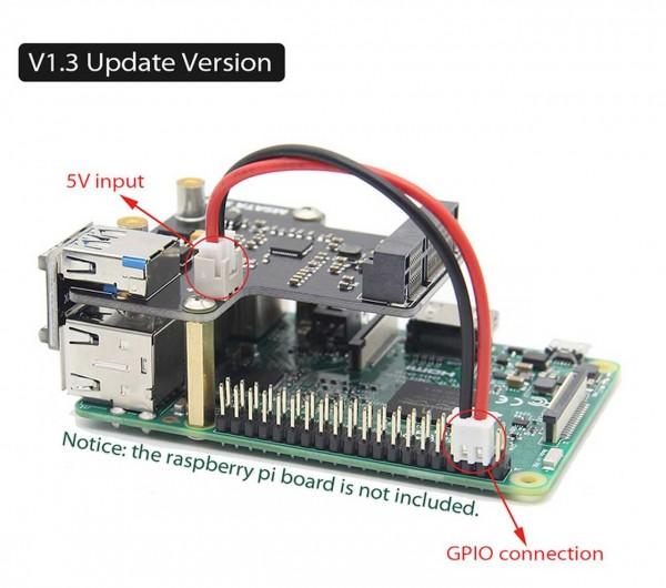 Raspberry Pi 3 Modell B+ (Plus)/3B mSATA SSD Speichererweiterung Bord X850 USB 3.0 Expansion Board Modul