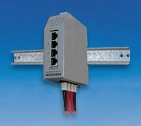 Microsens Profi Line Switch industrial 4x10/100TX mit PoE / 2x100FX-SC, MS650502PM-48