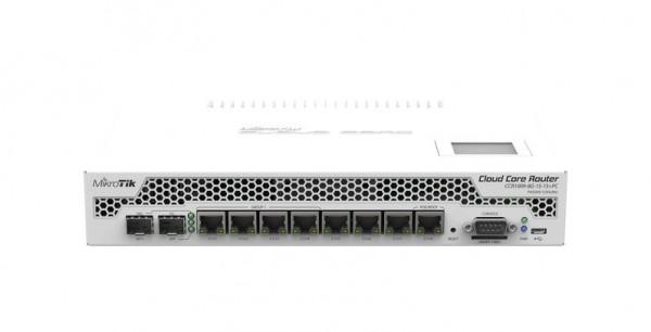 MikroTik Cloud Core Router CCR1009-7G-1C-1S+PC, 7x Gigabit, 1x Combo, 1x SFP+, passive Cooling