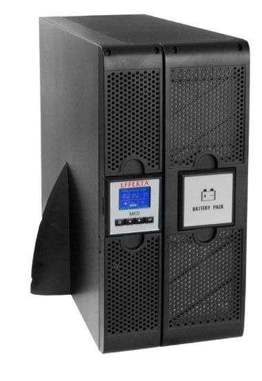 Effekta Online-USV, 6000VA, 20min, RS-232/USB, MKD6000RT,