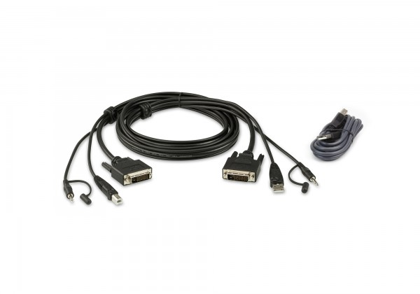 Aten Verbindungskabel Secure DVI-D, 1,8m, USB, Audio