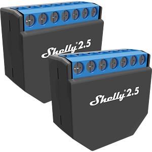 Shelly · Relais · 2.5 WLAN (Wi-Fi) Schaltaktor Doppelpack