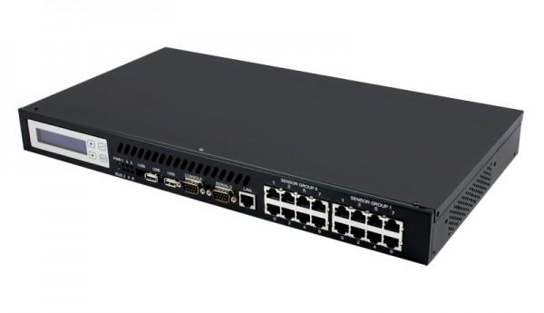 "ALLNET MSR Zentrale ""ALL5000"" inkl. 16 Senosor Ports & 19"" für IP Gebäude Automation"