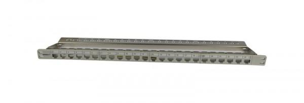 "Patch Panel 24xTP, CAT6A, incl.Keystone Slim-line, 19"", 0.5HE, Lichtgrau, Synergy 21,"