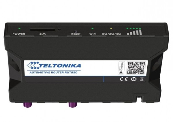 Teltonika RUT850 LTE Automotive Router/WLAN 100Mbps Down/ 50Mbps Upl.