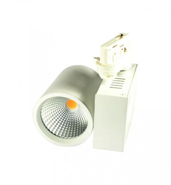 Synergy 21 LED Track-Serie für Stromschiene VLA-Serie 30W, 45°, ww, CRI>97 SILBER