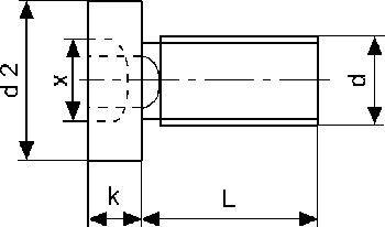 Knürr Zylinderschraube M5x8, 50-Pack