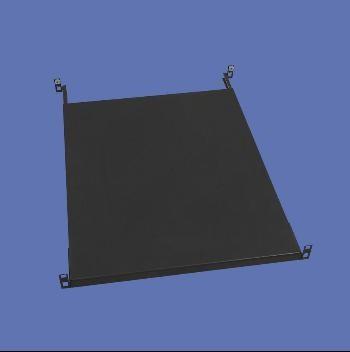 Knürr Schrank zbh. Zwischenboden, T800, fest, t=565-740, schwarz, Quick Fix, werkzeuglose Montage, nur Frontmontiert,